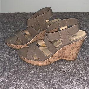 Nude Wedges 👡 by Chinese Laundry. Gently worn.